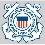 "U.S. Coast Guard Decal - 4"" Round - ""USCG"" Emblem"