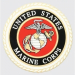 "U.S. Marines Decal - 4"" Round - Eagle Globe Anchor"