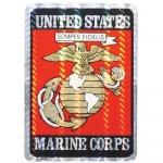 "U.S. Marines Decal - 2.5"" x 3.5"" - EGA Prism"