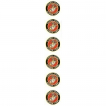 "U.S. Marines Decal - 6 round 1.7"" stickers - EGA"