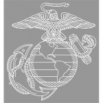"U.S. Marines Decal - 12"" - EGA - Eagle; Globe; Anchor"