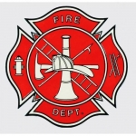 "Firefighter Decal - 3.5"" x 3.5"" Fire Dept Logo"