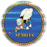 "U.S. Navy Decal - 3"" Circle - ""Seabees"" Prism"