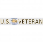 "Veteran Decal  - 15"" - ""U.S. Veteran DS-OIF"" Strip"
