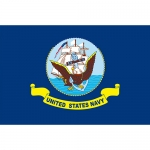 USN Flag - Embroidered 3' x 5' - 2 Side