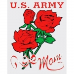 "U.S. Army Decal - 3"" x 4"" - ""U.S. Army Mom"""