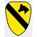 "U.S. Army Decal - 2.5"" x 3.25"" - 1st Cavalry SM"