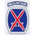 "U.S. Army Decal - 4"" - 10th Mountain Division"