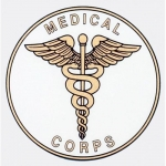 "U.S. Army Decal - 4"" Round - ""Medical Corps"" w/Ins"