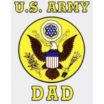"U.S. Army Decal - 3"" x 4"" - ""U.S. Army Dad"""