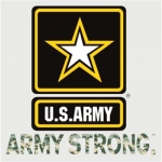 "U.S. Army Decal - 3.4"" ""Army Strong"" ACU with Star"