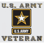 "U.S. Army Decal - 3.5"" x 3.25"" - Veteran w/Star"