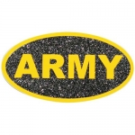 "U.S. Army Decal - 2.25"" x 4.25"" - ""ARMY"" Glitter"