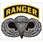 "U.S. Army Decal - 4.5"" x 4"" - ""Ranger"" Arch w/Wings"