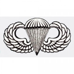 "US Army Decal - 3.5"" - Parachutist Jump Wings"