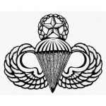 "US Army Decal - 3.5"" - Master Parachutist Bdge"