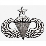 "U.S. Army Decal - 3.5"" - Senior Parachutist Bdge"