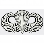 "US Army Decal - 8"" - Parachutist Jump Wings LG"