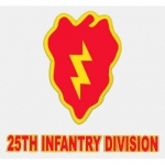 "U.S. Army Decal - 3.75"" x 4"" - 25th Infantry Div"