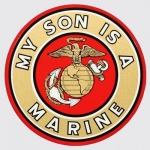 "U.S. Marines Decal - 4"" - ""My Son..."""