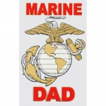 "U.S. Marines Decal - 3"" x 4"" ""Marine Dad"" EGA"