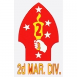 "U.S. Marines Decal - 4.75"" x 3"" - 2nd Mar. Div."