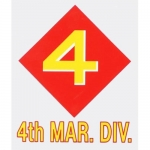 "U.S. Marines Decal - 3.5"" x 4.3"" ""4th Mar. Div."""