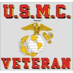 "U.S. Marines Decal - 3.5"" x 3.25"" - USMC Veteran"