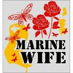 "U.S. Marines Decal - 3.6"" x 3.25"" - Marine Wife"