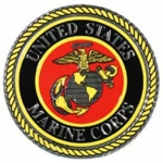"U.S. Marines Decal - 4"" Embossed Foil - Seal"
