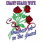 "U.S. Coast Guard Decal - 3.2"" x 4.5"" - ""USCG Wife"""
