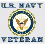 "U.S. Navy Decal - 3.5"" - U.S.N. Veteran with Seal"