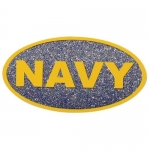 "U.S. Navy Decal - 2.25"" x 4.25"" - USN Glitter"