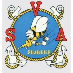 "U.S. Navy Decal - 3.3"" x 3.5"" - Seabees SVA"