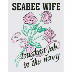 "U.S. Navy Decal - 3"" x 4"" - ""Seabee Wife"" Toughest"