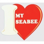 "U.S. Navy Decal - 4"" x 4.5 - ""I Heart My Seabee"""