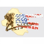 "Veteran Decal - 5.5"" x 3.5"" - OIF Veteran"