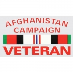 "Veteran Decal  - 5"" x 3"" - ""Afghanistan Camp Vet"""