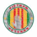 "Veteran Decal - 4"" Round - Vietnam Vet Wall w/Rib"
