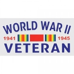 "Veteran Decal - 4.5"" x 2.5"" - World War 2 Veteran"