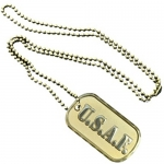 United States Air Force Gold Dog Tag