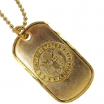 United States Service Emblem Dog Tag - Solid Bronze
