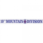 "U.S. Army Decal - 16"" - ""10th Mountain Div."" Strip"