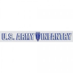"U.S. Army Decal - 13.5"" - Inf Follow Me  - Strip"