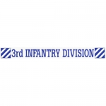 "U.S. Army Decal - 16"" - 3rd Infantry Strip"
