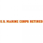 "U.S. Marines Decal - 20"" - USMC Retired - Strip"