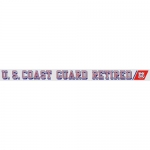 "U.S. Coast Guard Decal- 20"" - ""USCG Retired"" Strip"