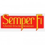"U.S. Marines Decal - 9.6"" - ""Semper Fi"" - USMC"