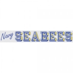 "U.S. Navy Decal - 13"" - ""Navy Seabees"" Strip"