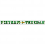 "Veteran Decal - Vietnam - 18"" Strip Sticker"